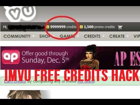 crack imvu credits