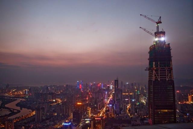 Финансовый центр Пинань на стадии строительства