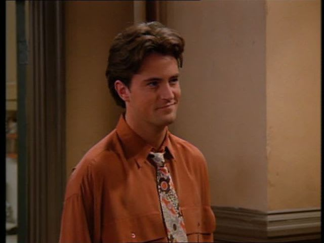 What happens in the dream Chandler describes?