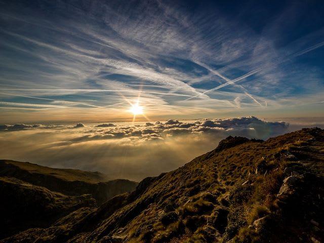 vista montañosa
