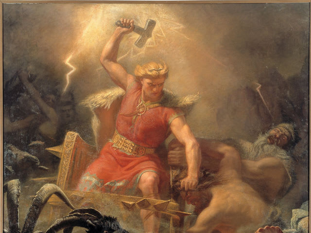 Thor is the Norse god of thunder, sky, and fertility.