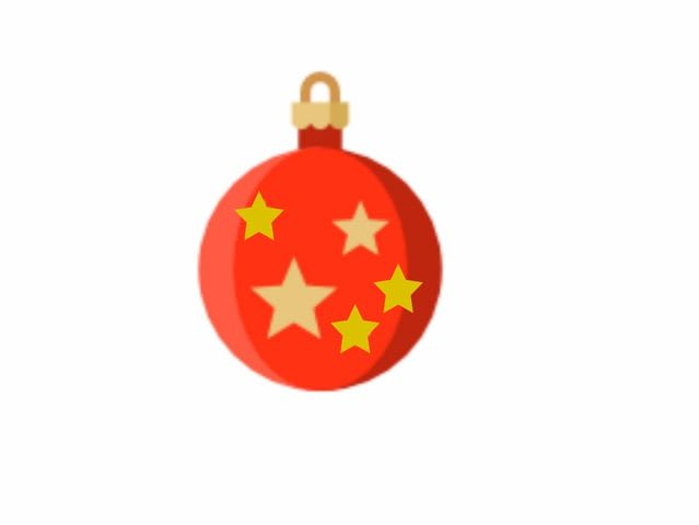 This ornament has three extra five-point stars instead of four-point stars!