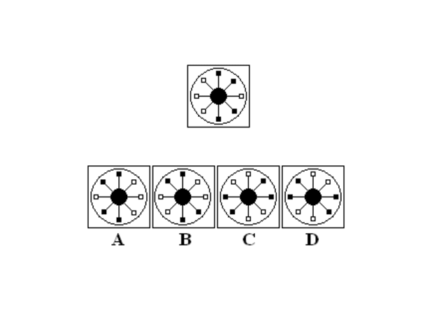 Which figure is identical to the one above?