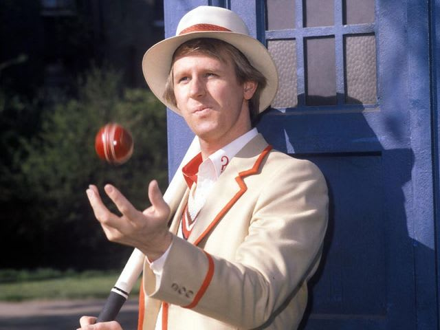 Peter Davison played the fourth Doctor.
