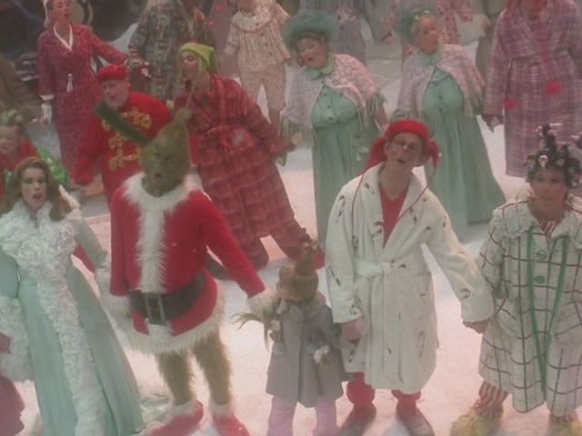 "Who is the only character to NOT say the words ""Grinch"" or ""Christmas"" in the entire movie?"