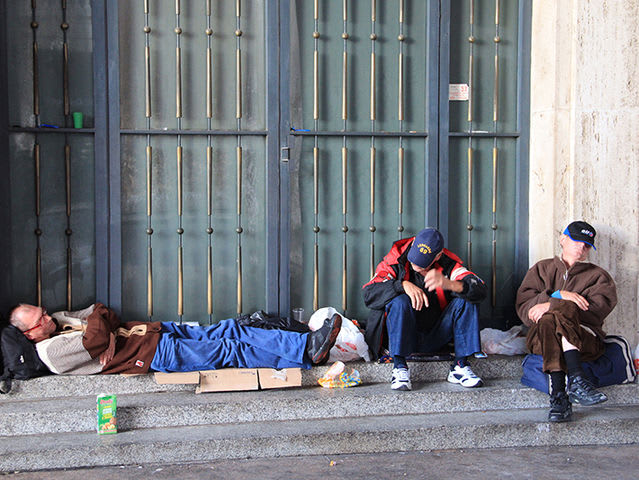 What is the biggest benefit of Hal sleeping where other homeless people sleep?