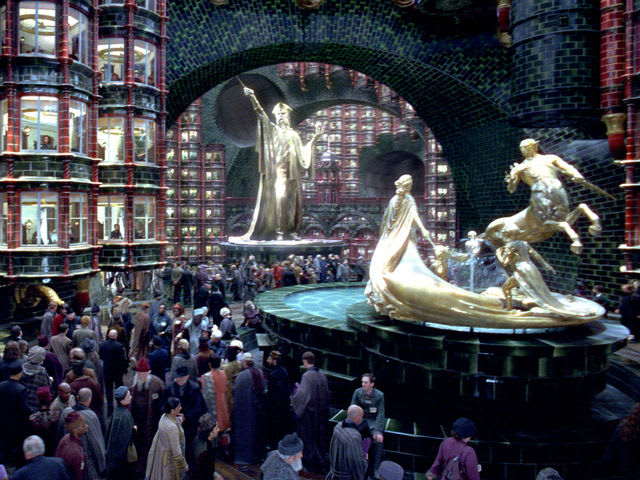 The five-digit code that lets you into the visitor's entrance at the ministry of magic spells out M-A-G-I-C.