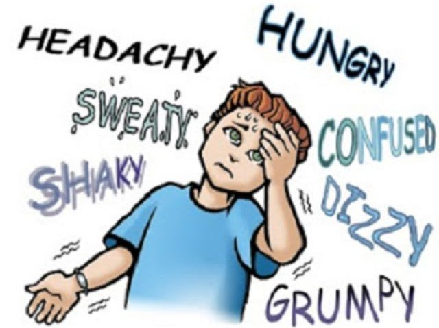 The first priority with hypoglycemia is to get the person some high sugar drink or candy.  Diet drinks will not work.  Apple juice or similar will work well, but high sugar things will not work for long.  Afterward the person should have a real meal, with plenty more juice. The biggest immediate danger is that the person will return to a hypoglycemic state.  If they have the means to check their sugar, they should do so frequently over the next several hours.  If the person is passed out or too confused to drink/eat, 911 should be called.