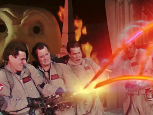 What technique do the Ghostbusters use to finally stop Gozer?