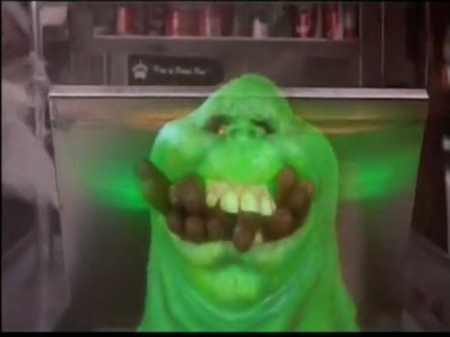Name the first ghost the Ghostbusters capture: