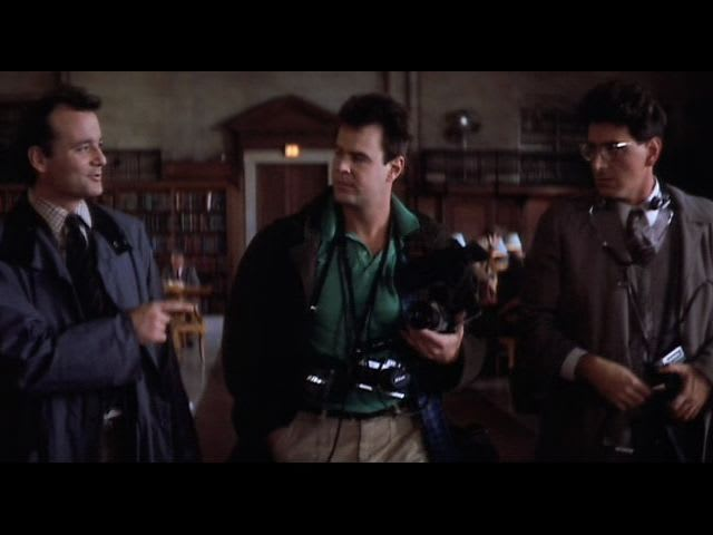 What are Raymond, Egon, and Peter's jobs at the start of Ghostbusters?