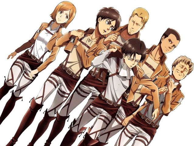 Who was the first member of Levi's squad to be killed by Annie, the Female Titan?