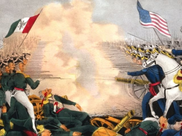The Mexican-American War took place between...