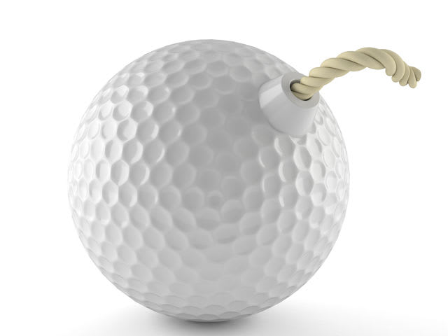 Exploding golf balls are banned in...