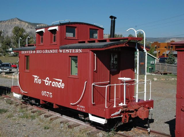 Answer: The caboose, or back end, of a train!