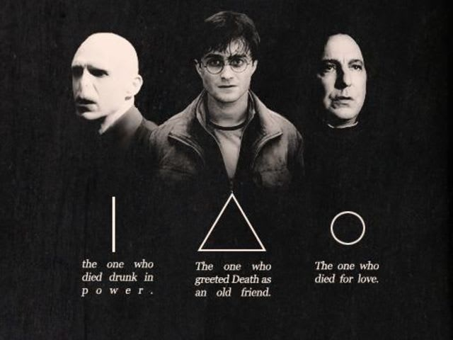 "It's the Deathly Hallows from ""Harry Potter""!"