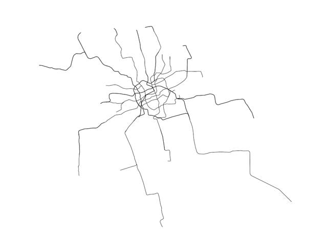Can You Guess The City By Its Metro Map Indy - Neil freeman us map