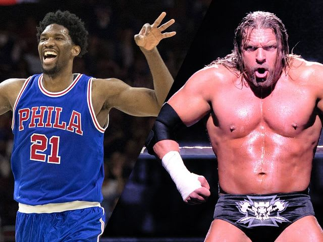 Who is Embiid's favorite WWE Superstar?