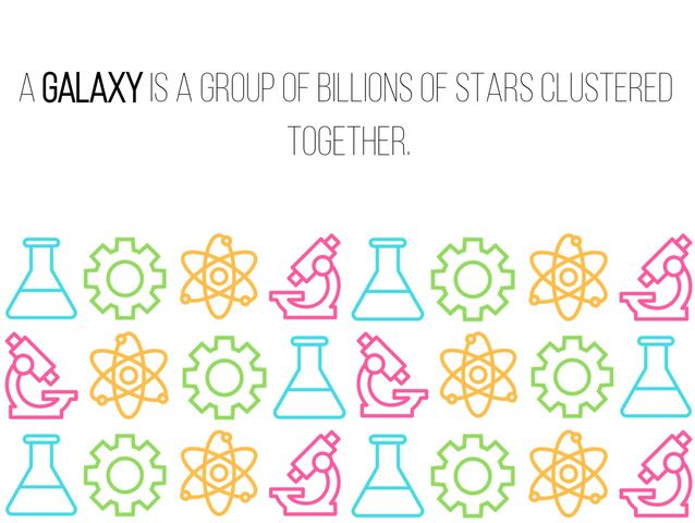 """A group of billions of stars clustered together."""