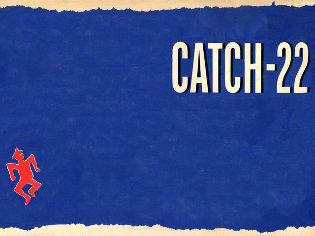 "What is the title of the novel ""Catch-22"" referring to?"