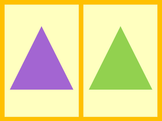 Which triangle is bigger?