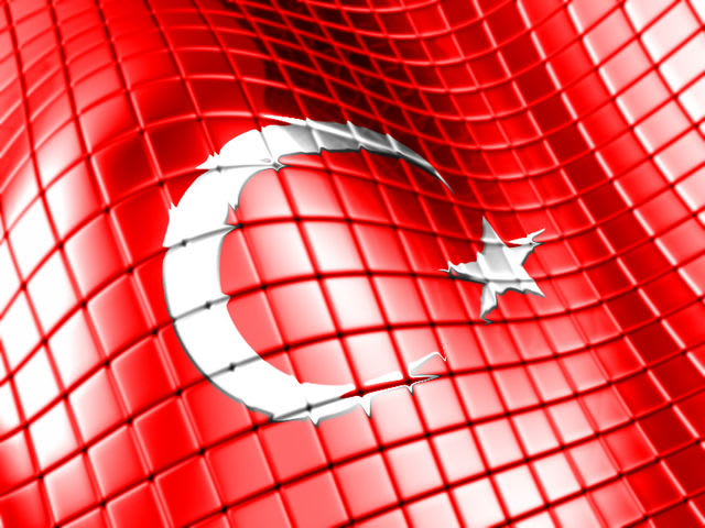 Turkey's flag has a red background and a five-pointed star