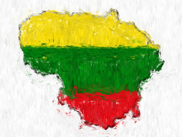 The Lithuanian flag has horizontal stripes too, but it is gold, green, and red.