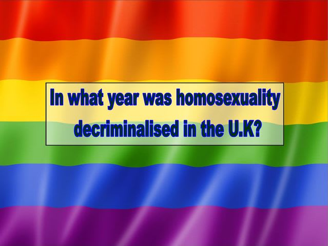 What year was homosexuality decriminalised in the U.K?