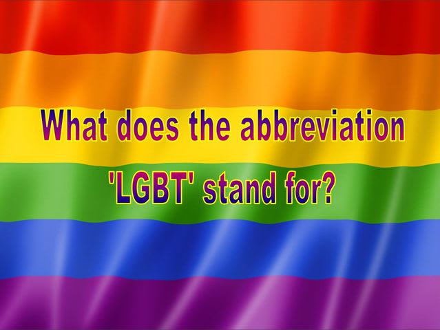 (What does the abbreviation 'LGBT' stand for?