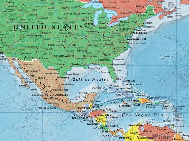 Nicaragua, although quite close to South America, is part of North America!