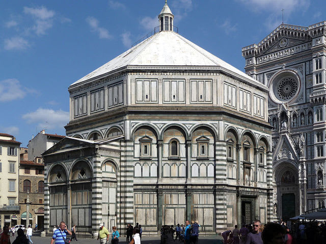 Officially known as the Baptistery of Saint John, this octagonal-shaped building replaced a similar structure that dated from the 6th century.