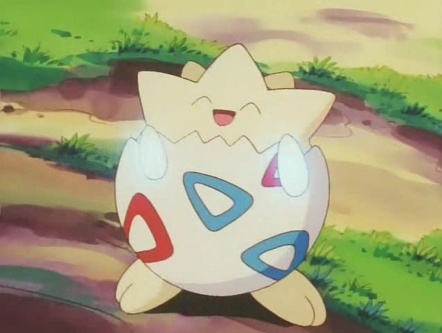 Togepi may not have wings, but it's a fairy-type Pokemon!