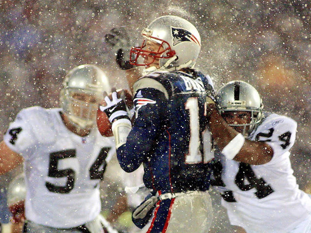 This team beat the Raiders in the now infamous tuck rule snowstorm game: