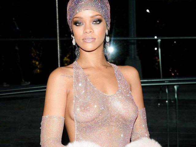 Rihanna wore this, erm, revealing dress to the 2014 CFDA Fashion Awards.