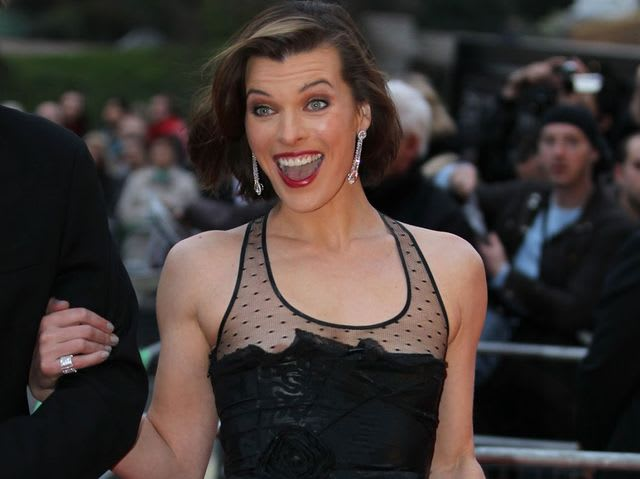 We're guessing no-one had told Milla Jovovich?