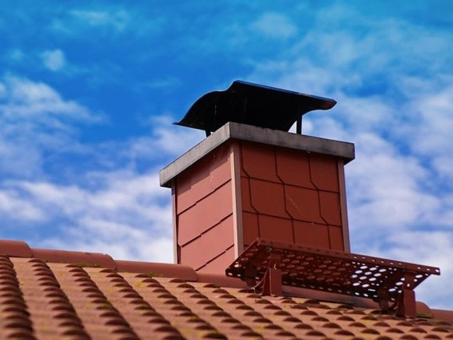 Here is an example of a capped chimney, which would prevent Chimney Swifts from entering. Don't worry about Chimney Swifts in the winter when you would need to use your chimney. Chimney Swifts aren't in town then. They are spending the winter in a much warmer climate. So, feel free to share. Or, you can build them their own free-standing chimney (visit chimneyswifts.org for instructions).