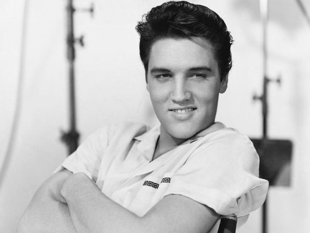 It's the King of Rock 'n Roll, Elvis Presley! He joined the Army in 1958.