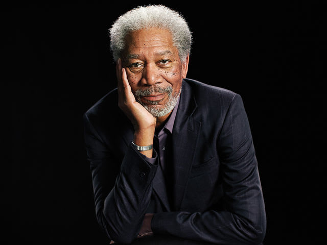 It's God, I mean, Hollywood actor Morgan Freeman! He served in the Air Force.