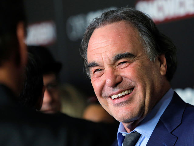 It's Hollywood movie director Oliver Stone! Stone served during the Vietnam War.