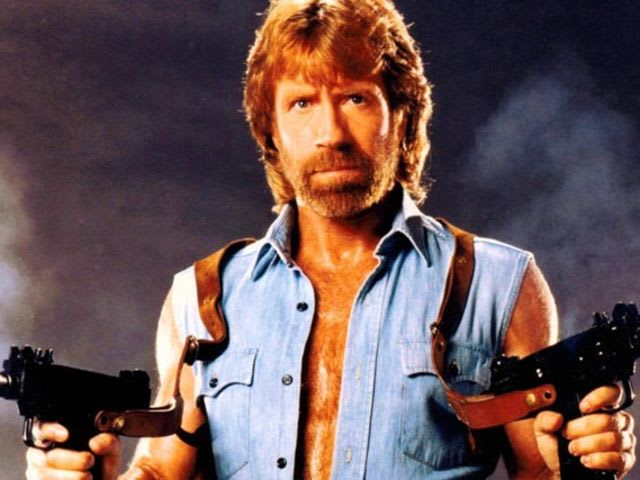 It's actor and martial artist Chuck Norris! He served in the Air Force.