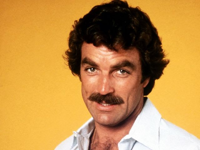It's actor Tom Selleck! He served in California's Coast Guard.