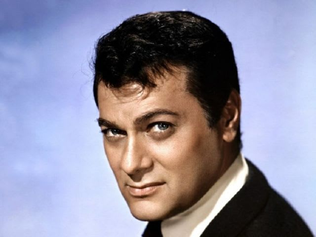 It's actor Tony Curtis! He served in the Navy during World War II.