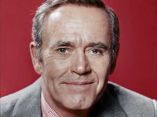 It's actor Henry Fonda! He served in the Navy during World War II.