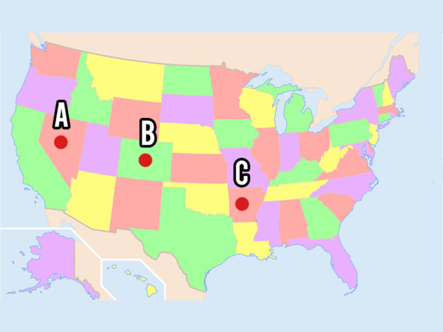 Can You Place The US State On A Map Kueez - Where is nevada