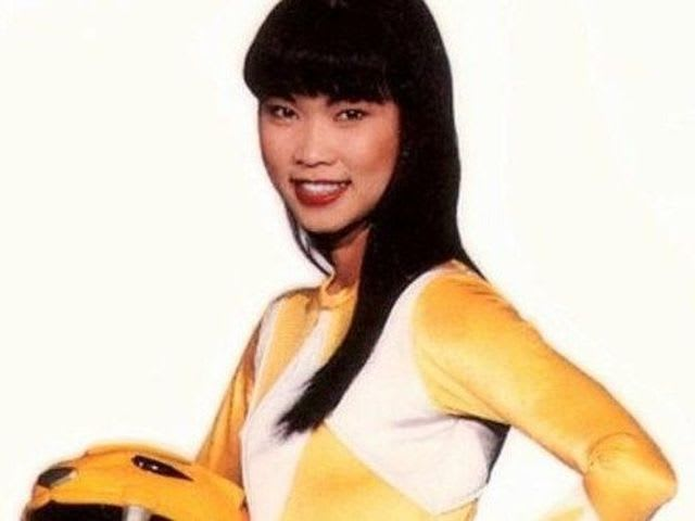 What was the name of the actress who played the original Yellow Ranger in Mighty Morphin Power Rangers?