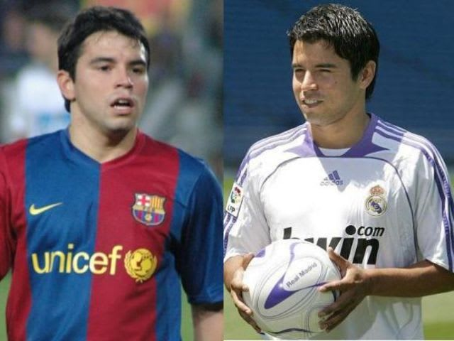 Javier Saviola transferred straight from Barcelona to Real Madrid in 2007