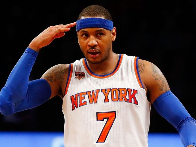 Truth or false: Carmelo Anthony won the scoring title as a Knick once