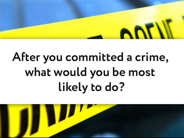After you committed a crime, what would you be most likely to do?