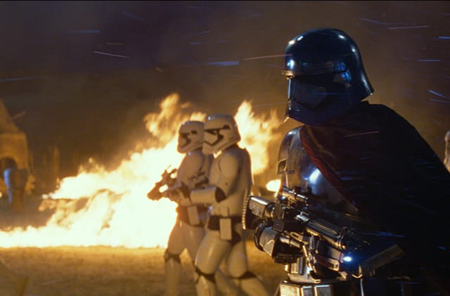Captain Phasma's armor is made from salvaged: