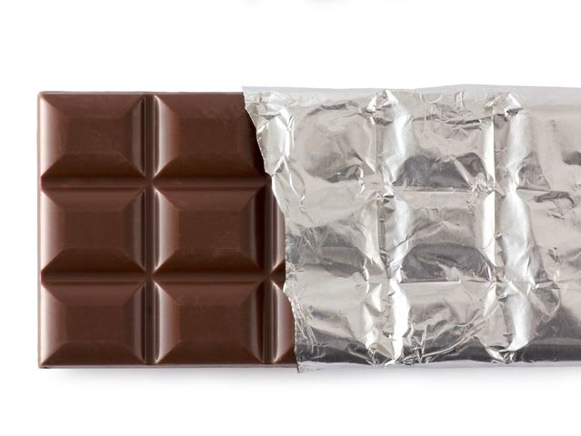 Which famous chocolate company made the first chocolate bar in 1842?